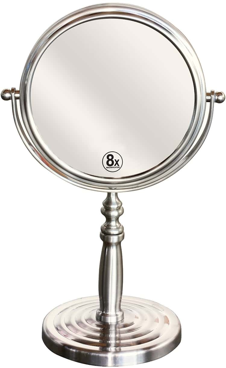 Double sided mirror for makeup