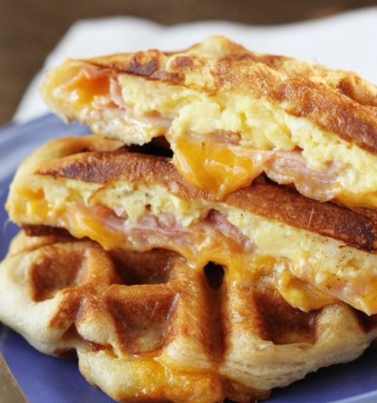 ham, cheese and egg wafflewich