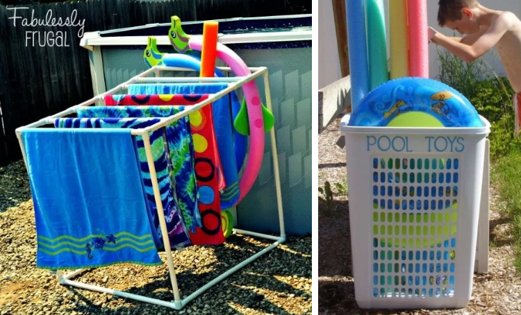diy pool toy storage ideas and tips