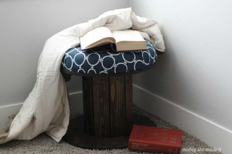 wire spool stool