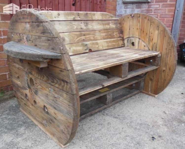 pallet-and-cable-drum-benches