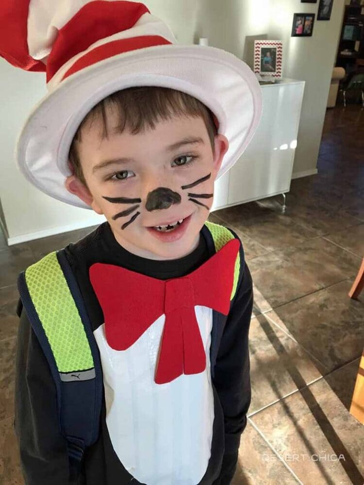 Cat In The Hat Tutorial a kid with a hat big bow tie and whiskers