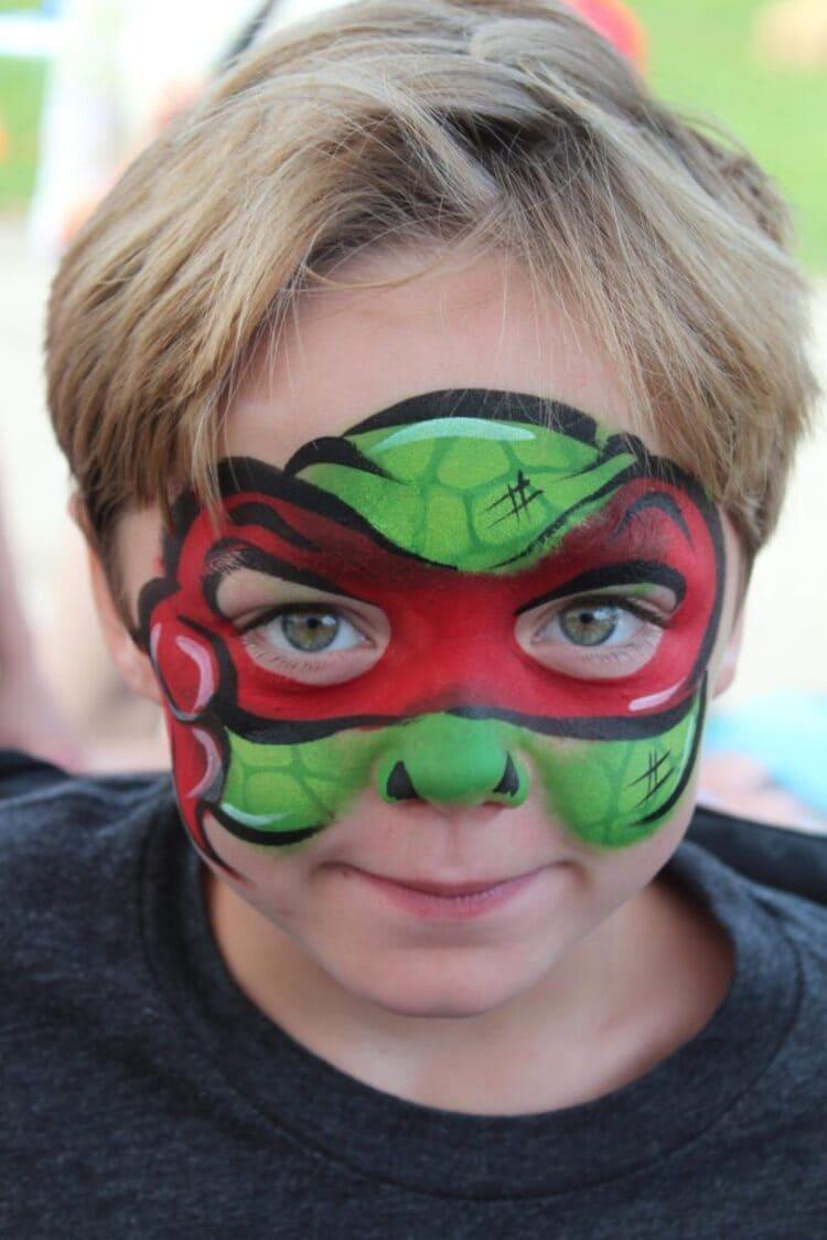 Teenage mutant ninja turtle face paint