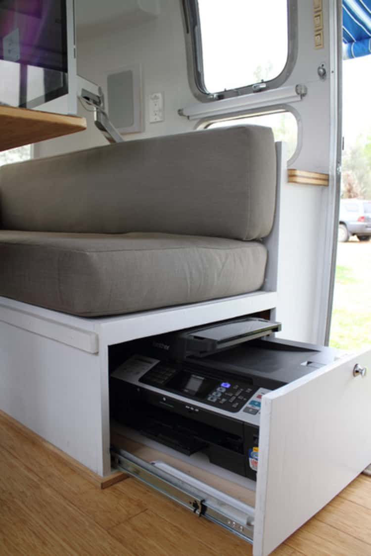 Under seat storage - great tip for RV living