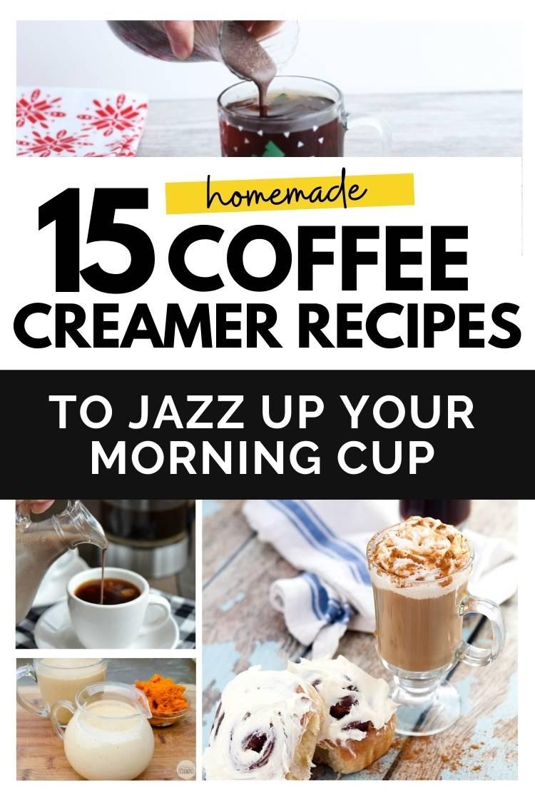 15 homemade coffee creamer recipes