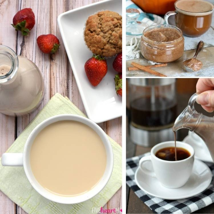 homemade coffee creamers collage