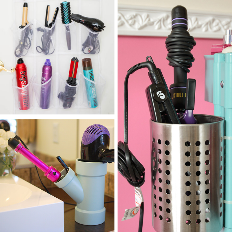 cool ways to organize hair tools