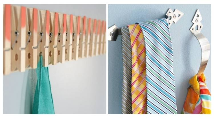 Scarves and ties help in fun cool ways in a collage